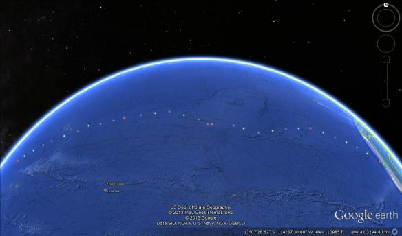 Pacific GEOTRACES cruise track