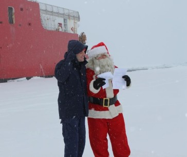 Members of the Coast Guard had an opportunity to hand deliver letters to Santa from their children.